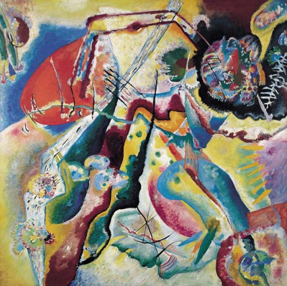 Painting with Red Spot, 1914, Oil on canvas, Gift of Mrs. Nina Kandinsky in 1976, Photograph © Centre Pompidou