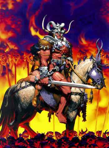 Barbarian San Antonio Comic Con VIP Exclusive Lithograph by Michael Golden