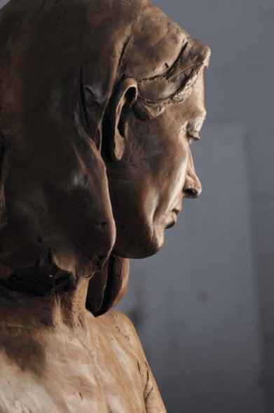 Profile of Carrie, 1994, Bronze, life-size
