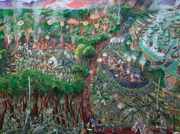 "Battle of Shiloh, 2014, Acrylic on canvas, 72"" x 96"""