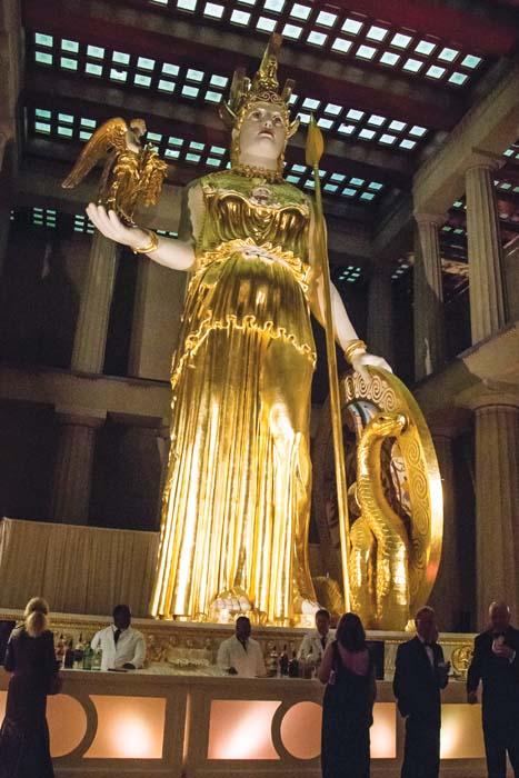 Athena inside the Parthenon
