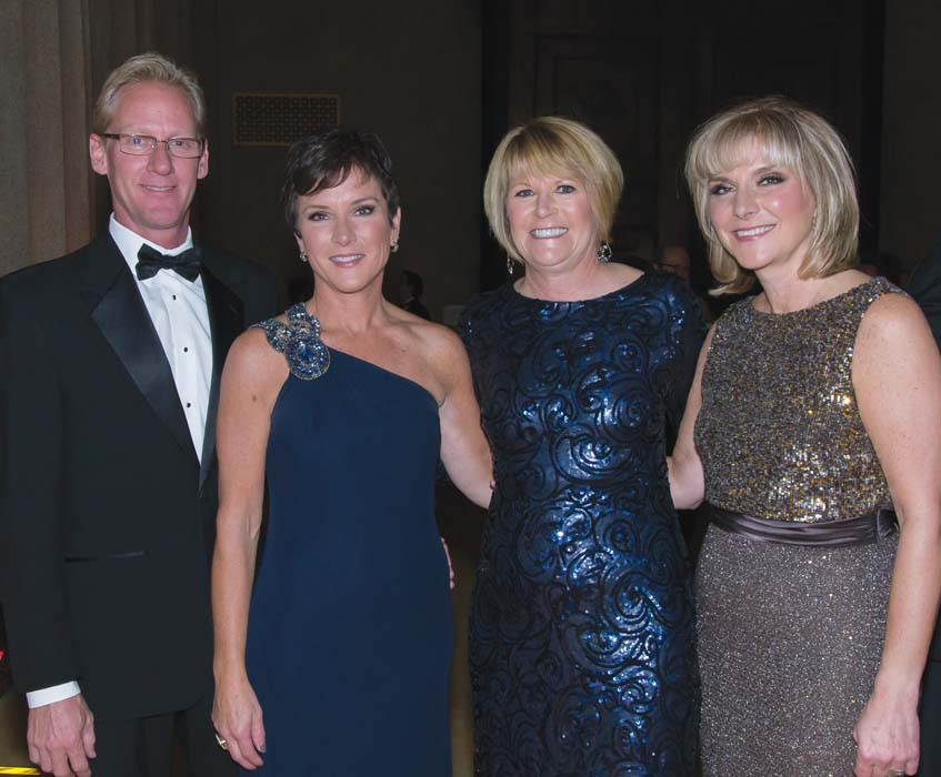 Todd Binns, Lisa Fortune, Gala Co-chairs Debbie Turner and Beth Fortune