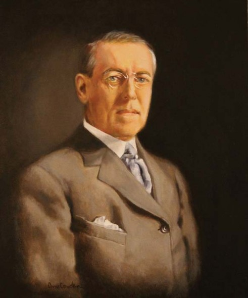 "President Woodrow Wilson, 2012, Oil, 30"" x 24"""