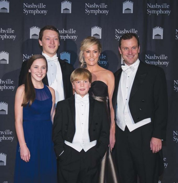 Symphony Ball Chairman Anne Maradik and Rich Maradik with children, Jackson (back row), Maddie and Bo
