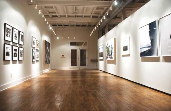 Interior of Sherrick & Paul Gallery at Fort Houston