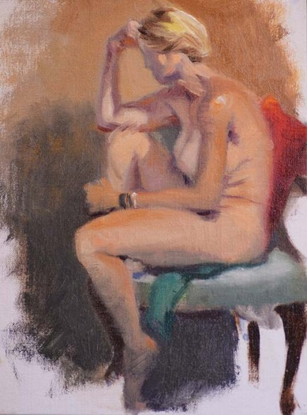 """Sketches from Life, 2014, Oil, 14"""" x 11"""""""