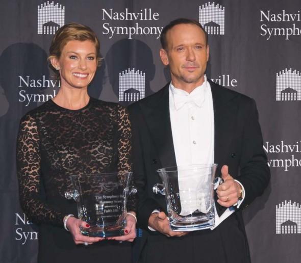 Harmony Award winners Faith Hill and Tim McGraw