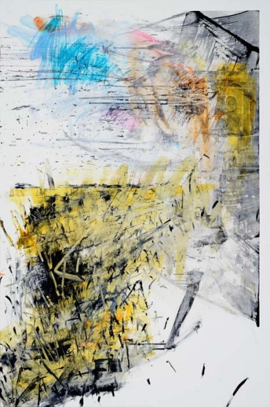 "Dusk 5.0, 2014, Oil on panel, 72"" x 48"""
