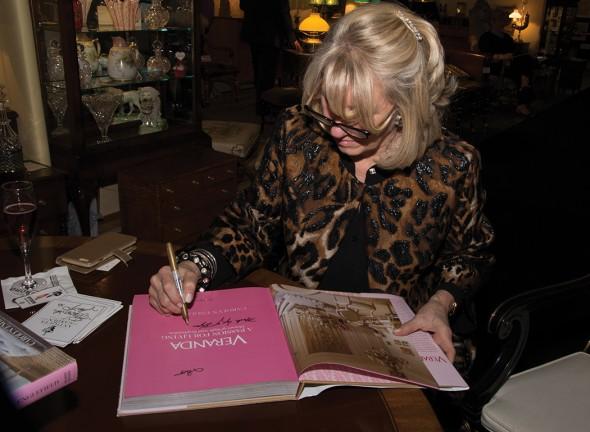 Veranda Interiors Editor Carolyn Englefield signs books