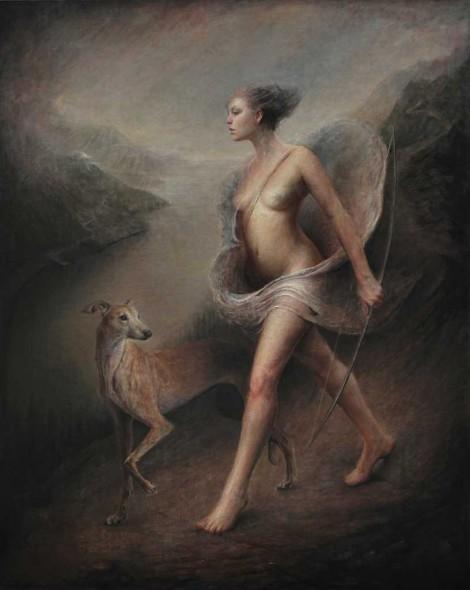 """Artemis, 2015, Oil on linen, 60"""" x 48"""""""