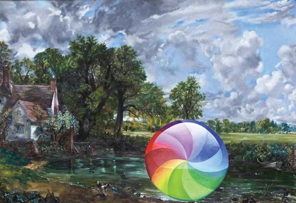 "The Haywain, 2014, Oil on wood panel, 36"" x 52"""