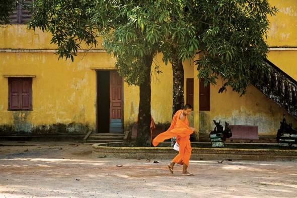 Saffron Swirl, Wat Trikuh, Cambodia