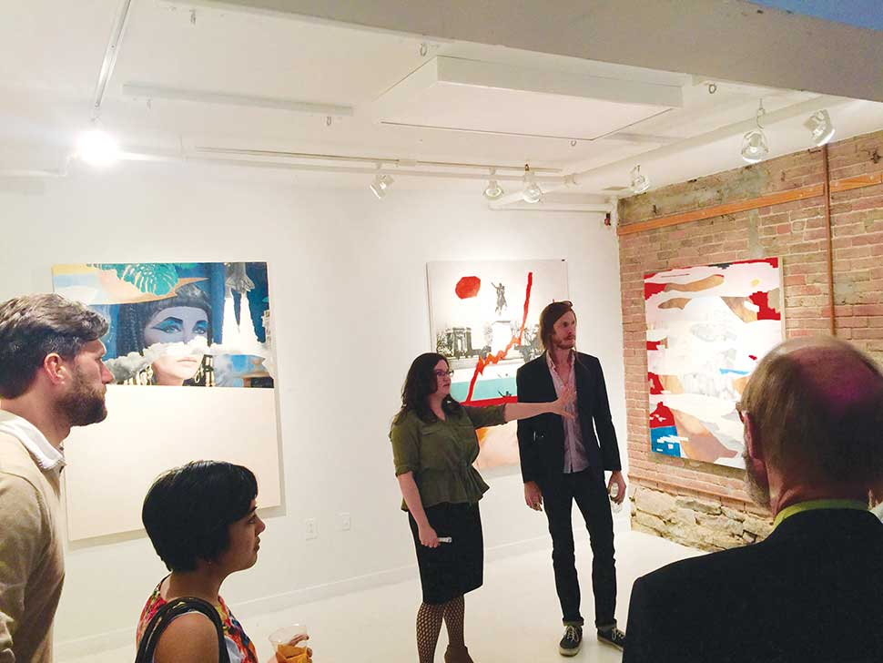 Sara Lee Burd, Casey Pierce at Collectors Art Night, The Rymer Gallery