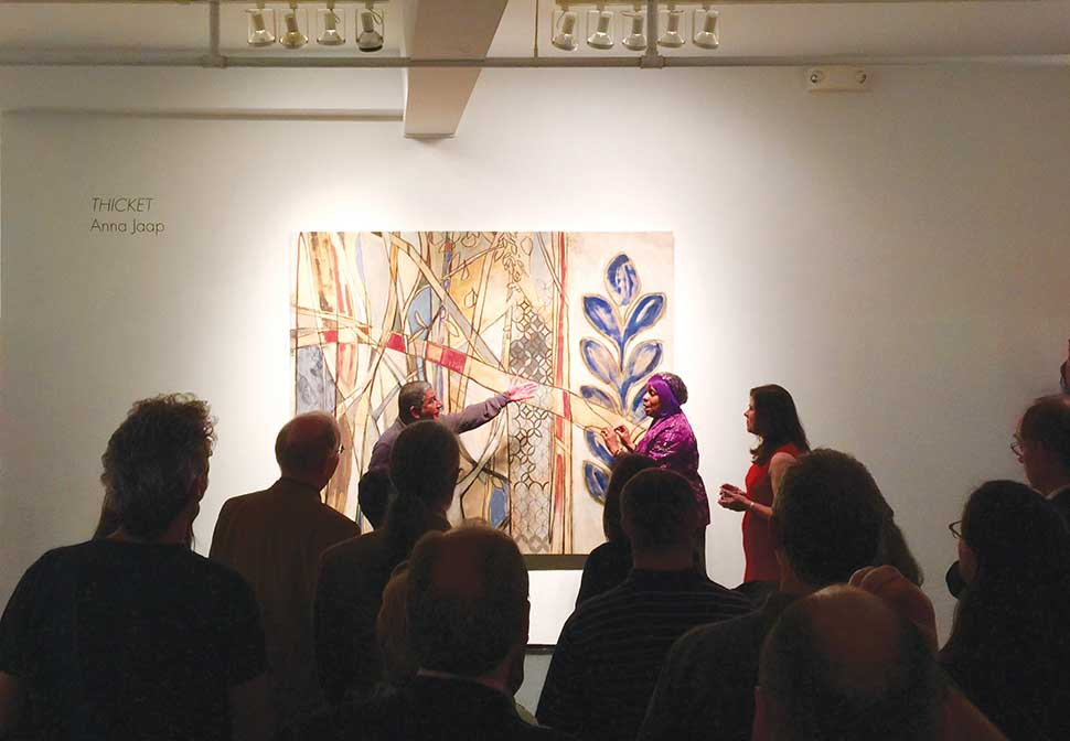 Paul Polycarpou, Patricia Lee, Anna Jaap at Collectors Art Night, Tinney Contemporary