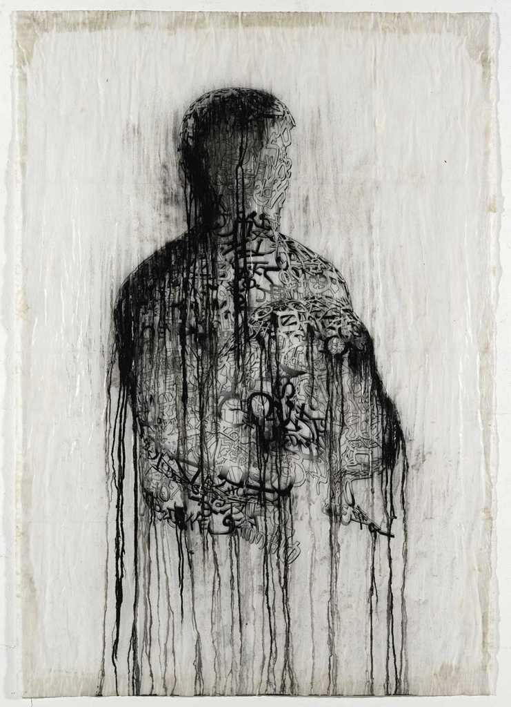 Shadow (study) XLIII, 2011, Mixed media, 5' x 4'