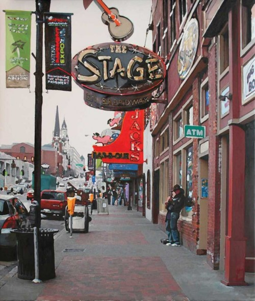 "The Guitar Man,2015, Oil on canvas, 29"" x 34"""