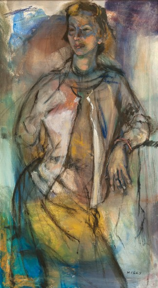 """White Sweater, 1956, Oil on canvas, 36"""" x 20"""""""