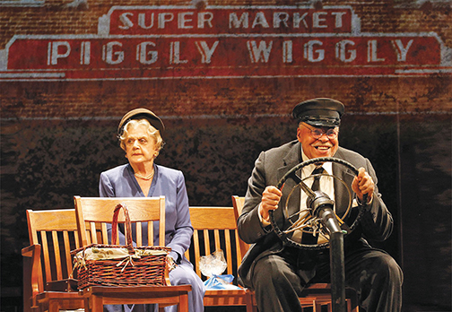 Angela Lansbury and James Earl Jones in  Great Performances: Driving Miss Daisy. Courtesy of Broadway Near You