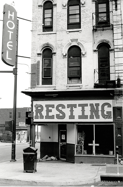 Resting Place Corner of Broadway and 4th Avenue South