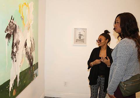 Andreana Grant and Taneisha Crockett at Coop Gallery
