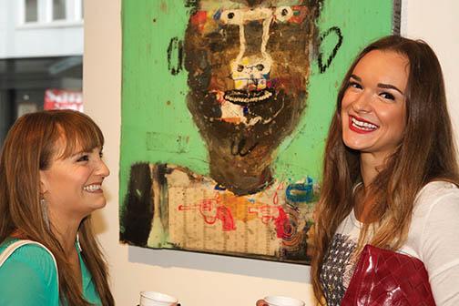 Rachele Lynae and Hannah Bethel at Tinney Contemporary