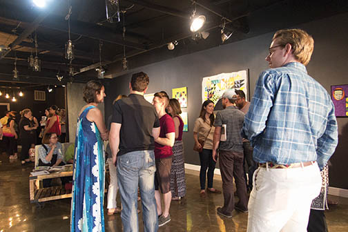 Eastside Art Stumble, KT Wolf Gallery. Photograph by Carl Papenfuss