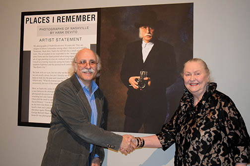 Hank DeVito and Lois Riggins-Ezzell at Tennessee State Museum opening. Photograph by Bev Moser