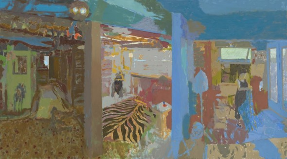 """Bill Killebrew, Then she swept up and had a nap, 2015, Oil on linen, 30"""" x 54"""""""