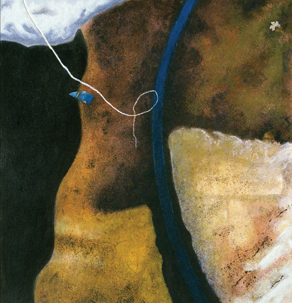 "Of Soil and Sky, Mediations, 2011, Mixed media on paper: acrylic, pastel, charcoal, 32"" x 32"""