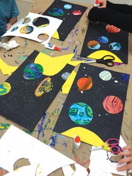 5th grade visual art andplanets integration lesson