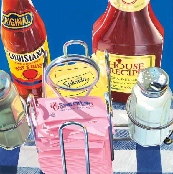 "Diane Davich Craig Shake, Splash, Sprinkle, Squirt, 2011, Oil on panel, 30"" x 30"""