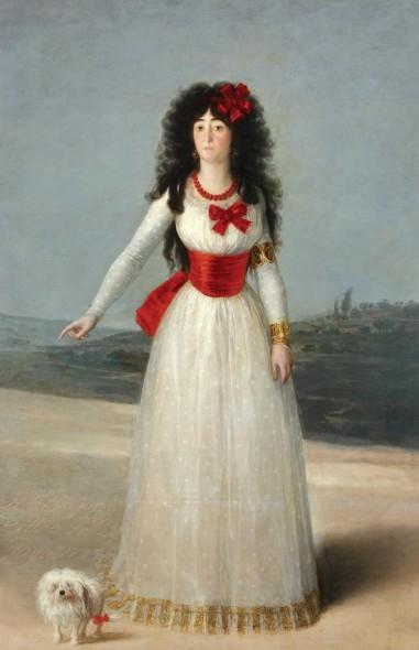 "Francisco de Goya, The Duchess of Alba in White, 1795, Oil on canvas, 76"" x 51"""