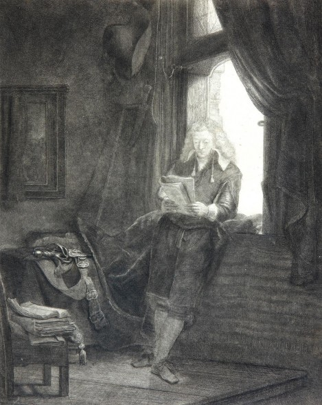 """Rembrandt Harmenszoon van Rijn, Jan Six, 1647, Etching, drypoint, and engraving, 10"""" x 7"""""""