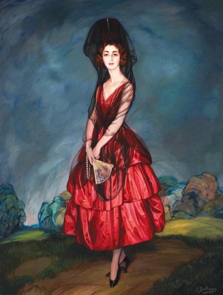 """Ignacio Zuloaga y Zabaleta, Portrait of María del Rosario de Silva y Guturbay, Seventeenth Duchess of Alba, 1921, Oil on canvas, 81"""" x 71"""""""