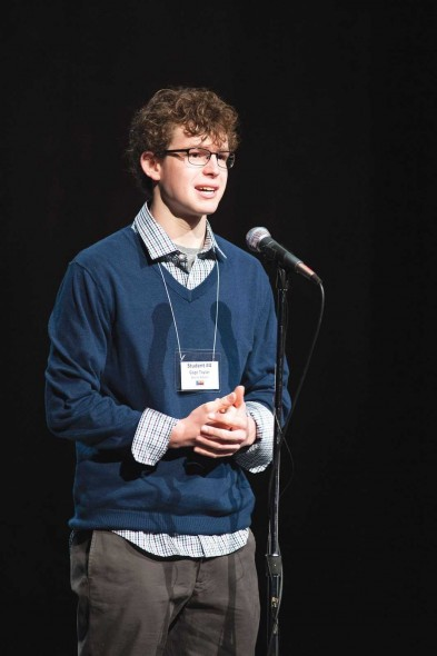 Gage Taylor, Baylor School, Chattanooga, competes in the 2014 TN state competition