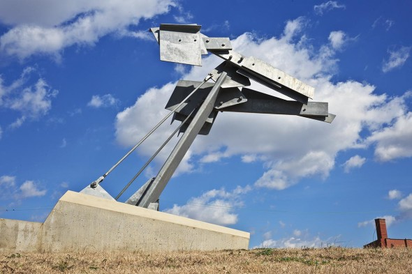 Barry Hehemann, Hulettelujah, 2011, Galvanized steel and concrete, 20' x 8' x 16'