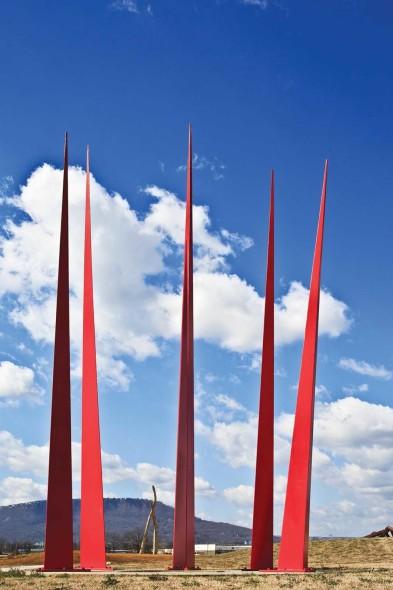 F. Douglass Schatz, River City Queen, 2012, Welded steel, 40' x 20'