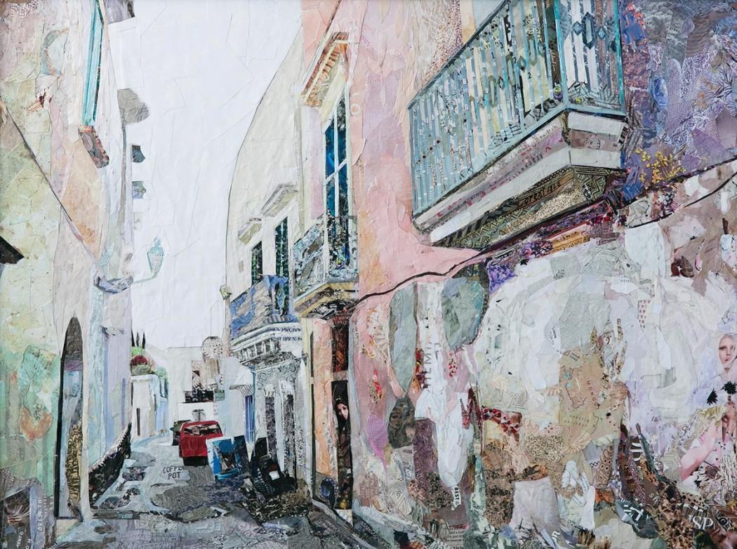 """Lecce, 2014, Collage, 18"""" x 24"""""""