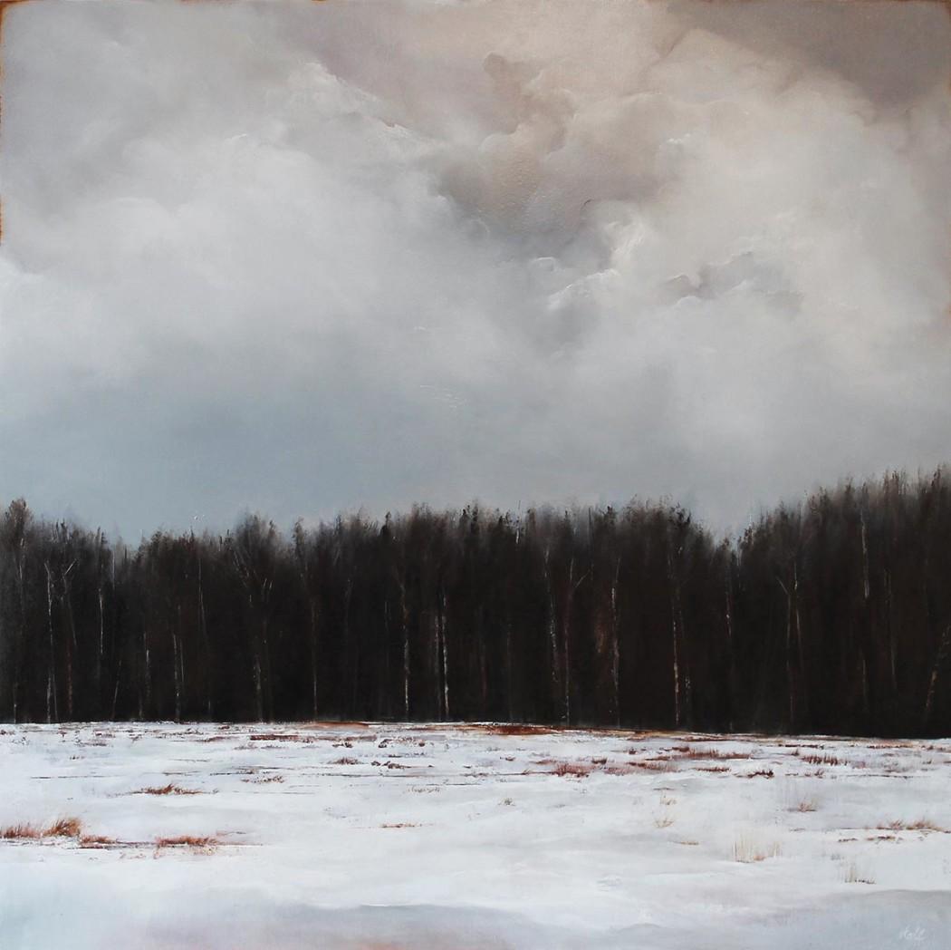 "Ever Wonder, 2015, Oil on panel, 24"" x 24"""