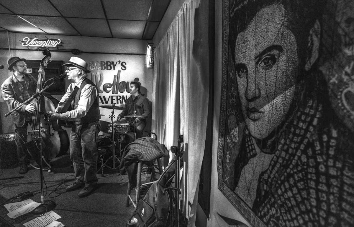 David Olney performs at Bobby's Idle Hour, a songwriters hangout for many years on Music Row.