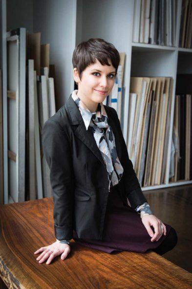 Photos of Sara Estes at David Lusk Gallery in Nashville for Nashville Arts Magazine, My Favorite Pinting.
