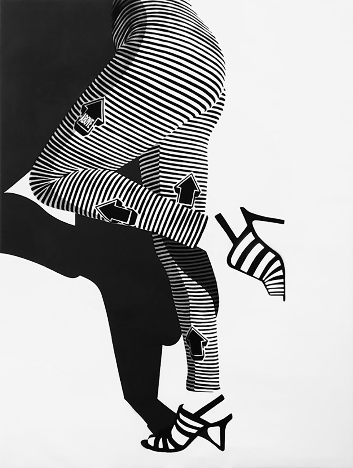 ABOVE Ophelia (legs) Spray enamel on canvas, 2015 47 x 35.5 in