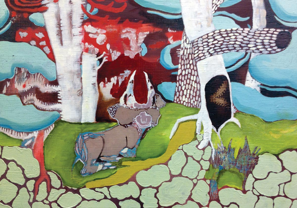 Emily Holt bison and birches
