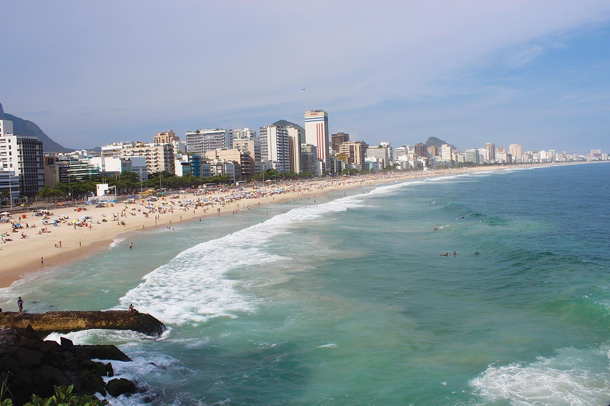 A view of a Rio beach, from Get Ready to Rio! with Chef Hubert Keller. Photograph Courtesy of Magnolia Pictures.
