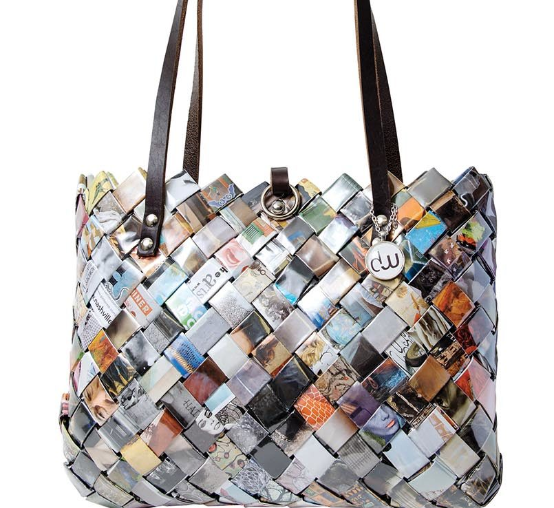 Purse made from Nashville Arts Magazines. Photography by Eric Brown