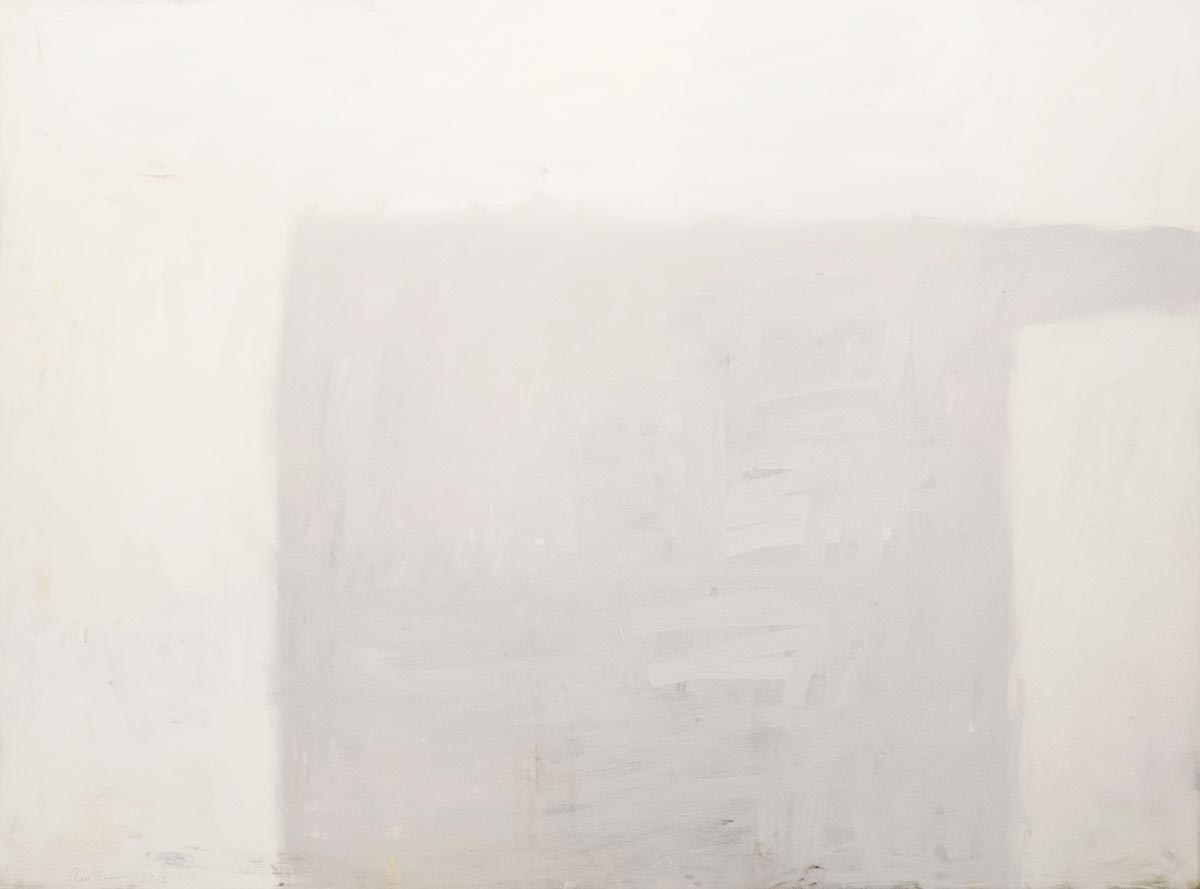 "Cube & Truss, 2016, Oil on canvas, 70"" x 96"""