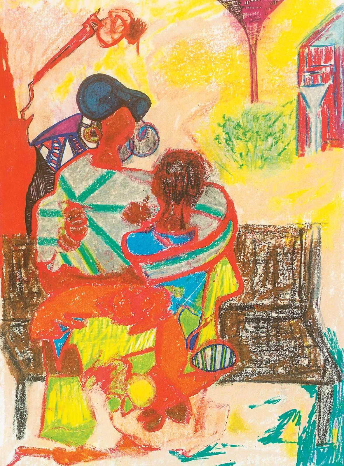 mother-embraces-son_crayon-and-colored-pencil-on-paper-dlc2300