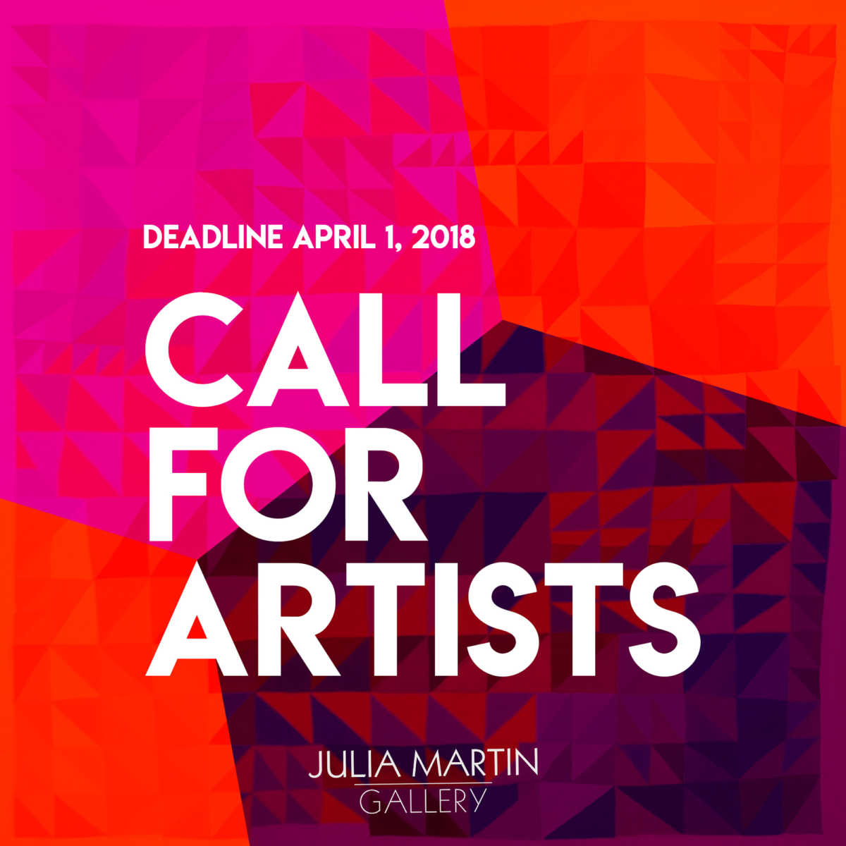 Call for Artists - Julia Martin Gallery -